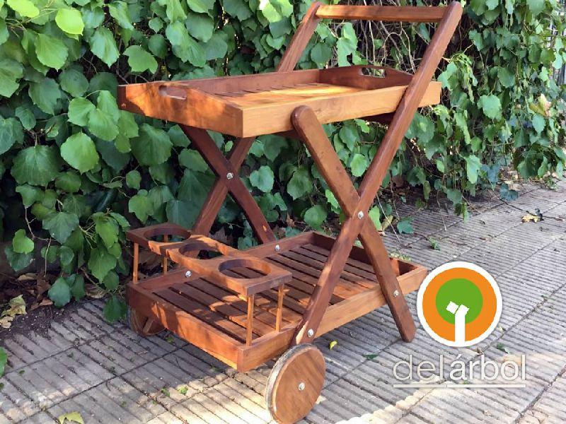 Carro Bar de Madera para Jardín y Exterior | del-arbol.com.ar ...