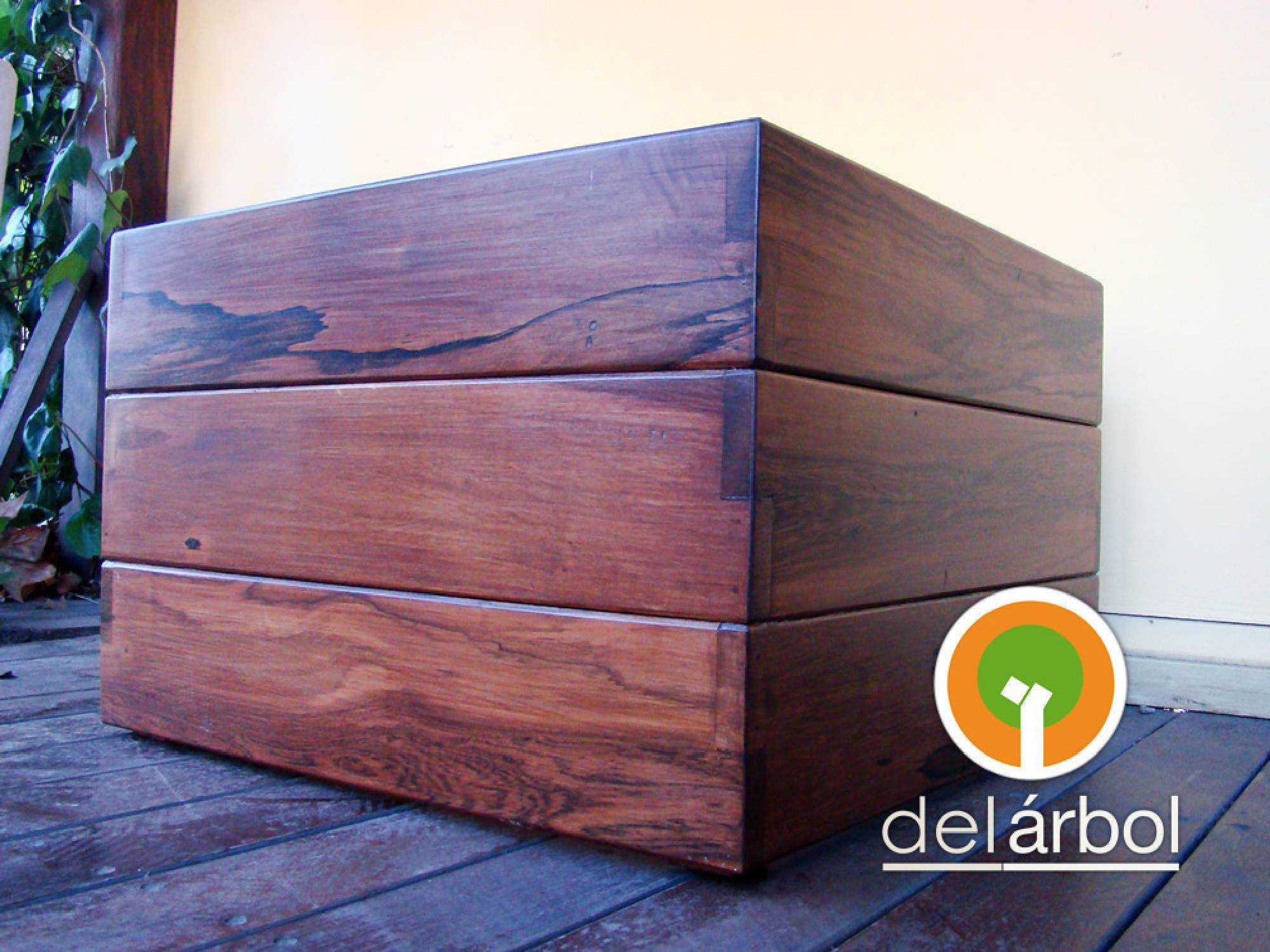 Macetero r stico de madera para jard n y exterior del for Fabrica muebles exterior