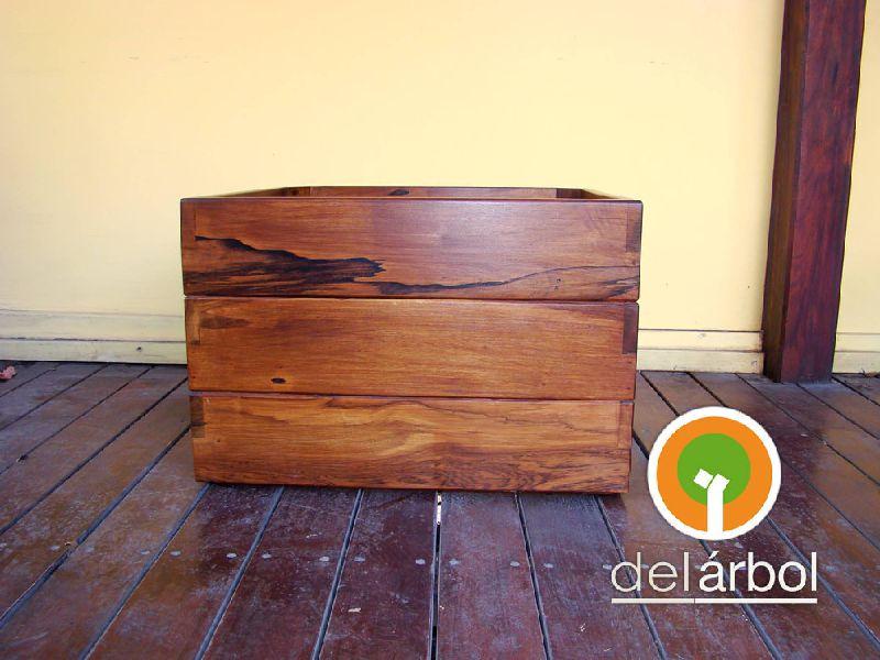 Macetero r stico de madera para jard n y exterior del for Maceteros rusticos para jardin