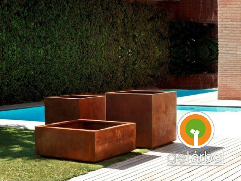 Maceteros de hierro para jard n y exterior del for Fabrica muebles exterior