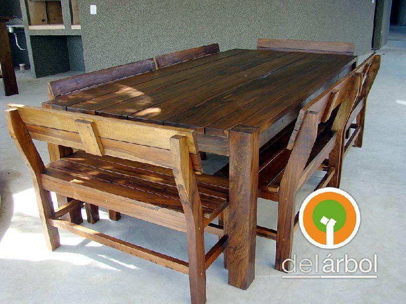 Banco coleman de madera para jard n y exterior del arbol - Bancos de madera para interior ...