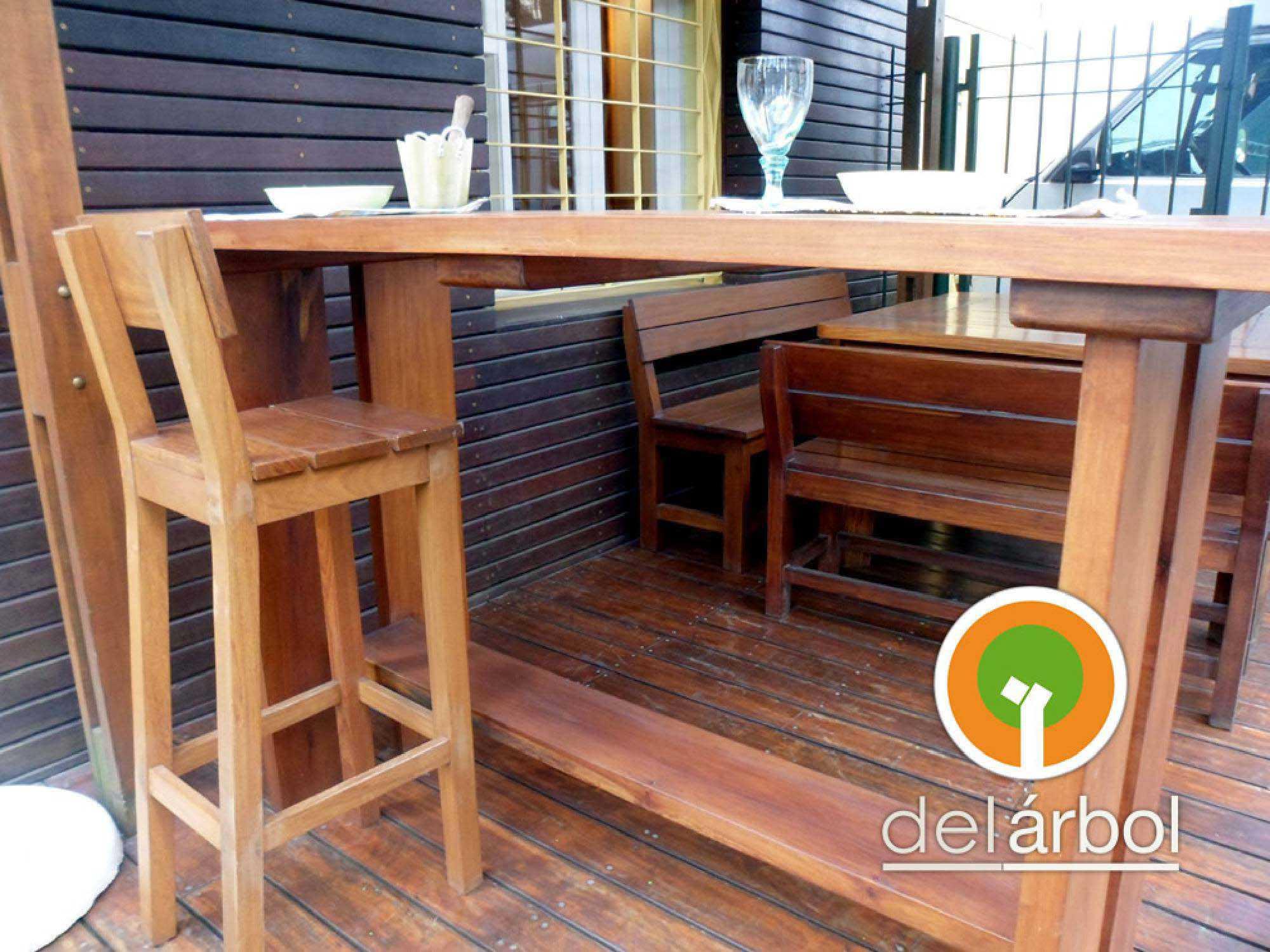 Banqueta de barras de madera para jard n y exterior del f brica de muebles de - Barras de madera ...