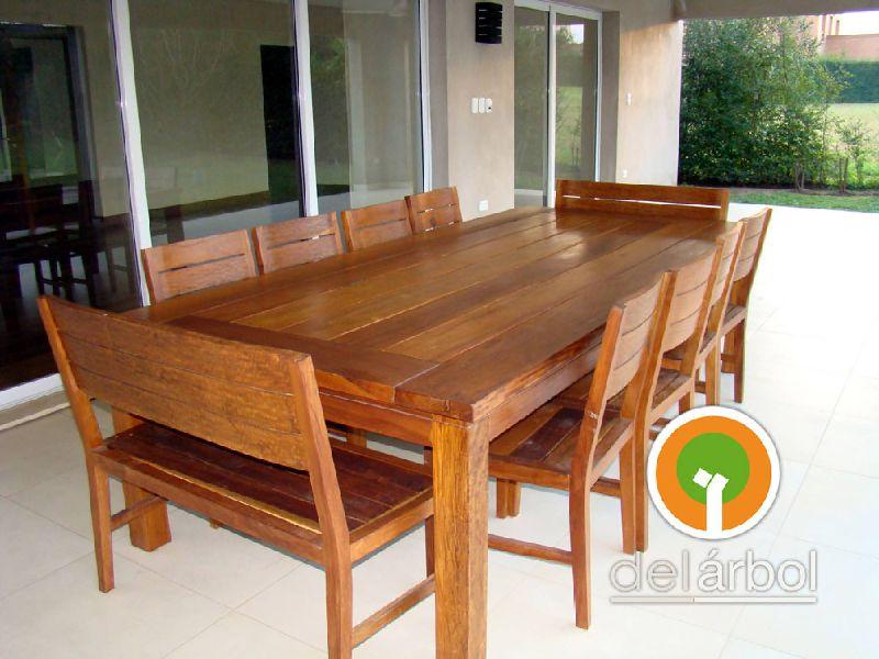 Mesas de madera jardin conjunto mesa y bancos de madera para jardn logic mesa de madera para - Mesas de exterior de madera ...