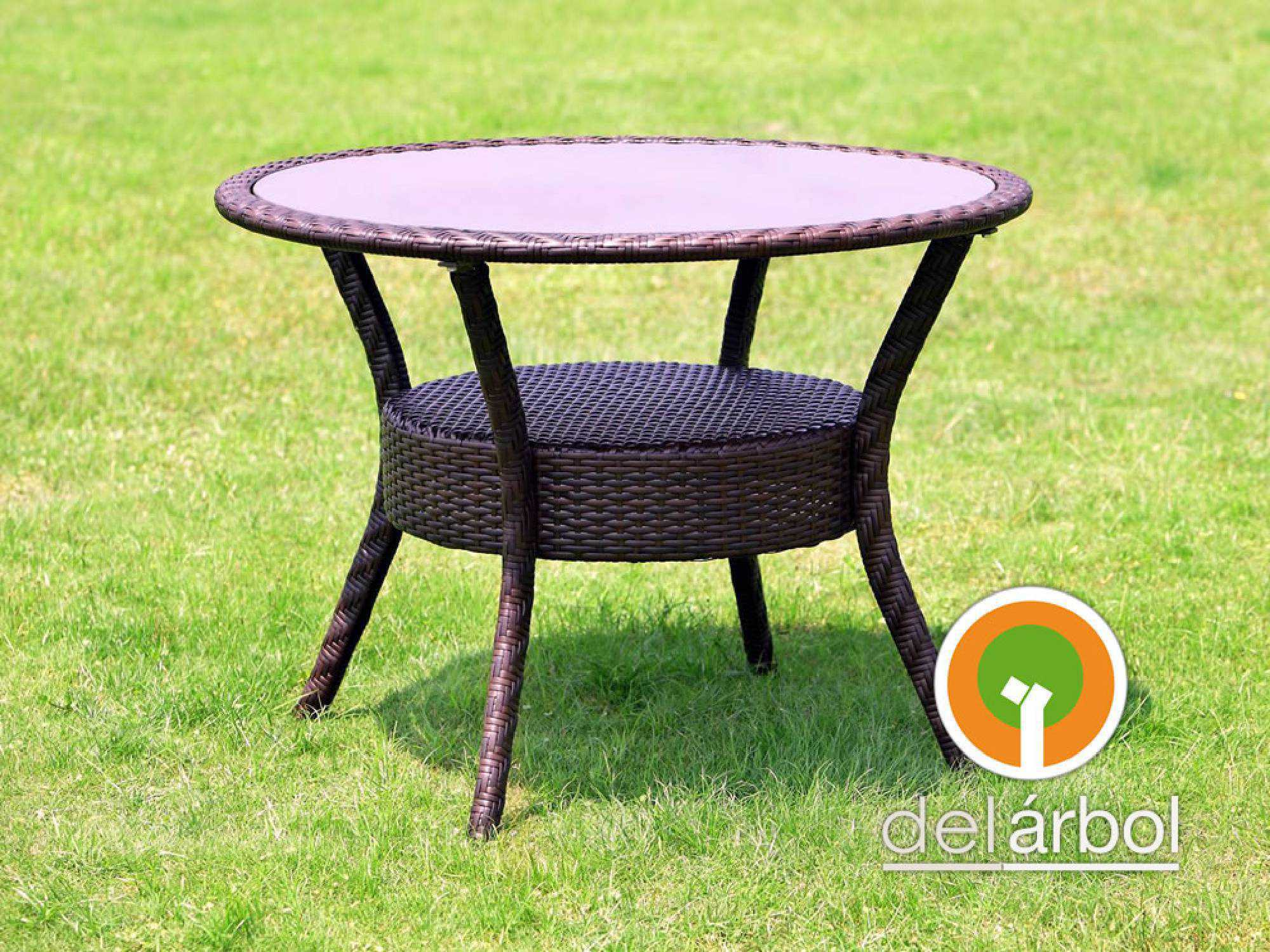 mesa redonda mesa rectangular de fibra u rattn para jardn y exterior