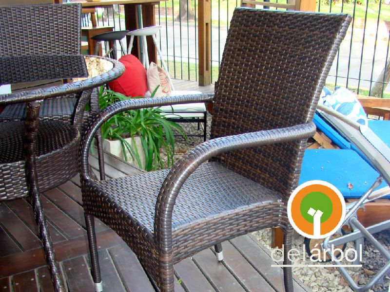 silla sorrento de fibra y rattn para jardn u exterior