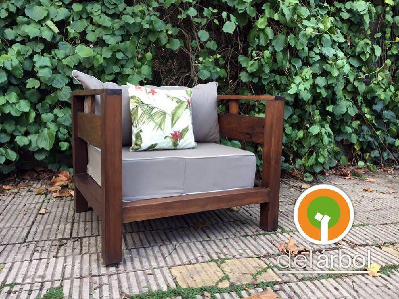 Sill n trapanito de madera para jard n y exterior del for Sillon jardin madera