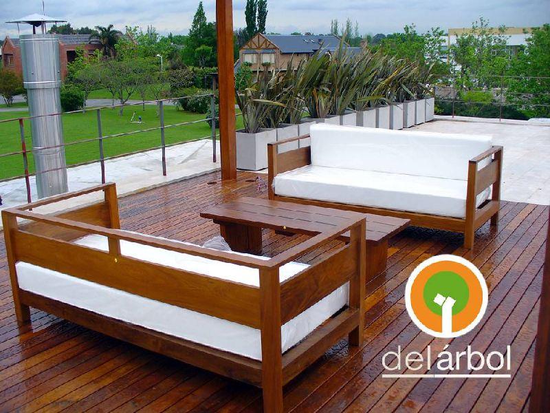 Sill n trapani de madera para jard n y exterior del for Sillon terraza madera
