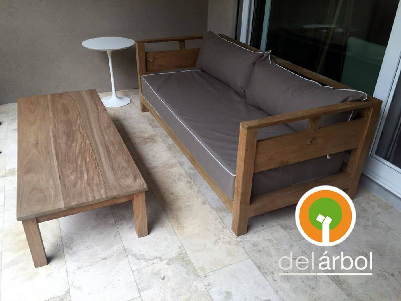 Sill n trapani de madera para jard n y exterior del for Sillon jardin madera